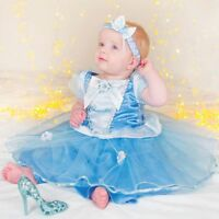 DISNEY CINDERELLA PRINCESS FAIRYTALE FANCY DRESS COSTUME OUTFIT - BABY TODDLER