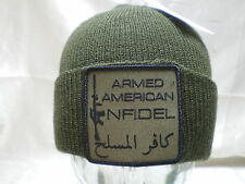 Government Issue 100%Wool Watch Cap Infidel Patch Beanie Skullcap Knit Hat