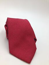 $95 CLUB ROOM Mens WHITE RED CHECK DOT DRESS NECK TIE CASUAL NECKTIE 59x3.25