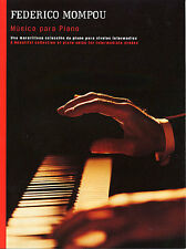 Federico Mompou Musica Para Piano Learn to Play CATALAN Music Book