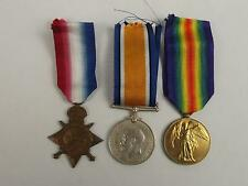 WW1 Medal 1914/15 Trio Awarded To Royal Navy Stoker H.Brown
