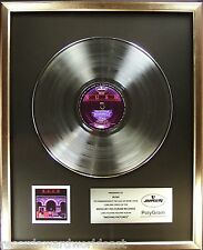 Rush Moving Pictures LP Platinum Non RIAA Record Award Mercury Records