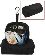 BLACK Tactical Compartment Travel Carry Shaving Toiletry Kit Bag #2  9726