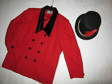 CIRCUS ringmaster red jacket halloween COSTUME size 20 cosplay fantasy plus size