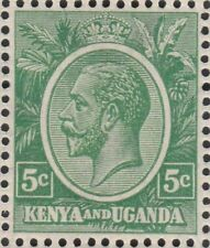 Kenya Uganda GV 5c single stamp SG78  Green MNH