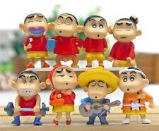 8pcs Japan Cartoon Anime Crayon Shin-chan Action Figure Figurine Kids Toy Gift
