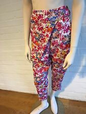 Karl by Karl Lagerfeld Flower Print Harem Style Pants Trousers F 34 I 38 XS