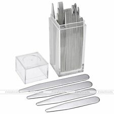40pc Stainless Steel Collar Stays Stiffeners Bone for Mens Shirt 4 Sizes w/Box