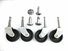 SET OF 8 NEW CASTORS  STRONG FURNITURE WHEELS Black sofa chair upholstery glides