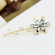 Women Charming Chic Flower Hair Clips Barrettes Hairpins Wedding Bridal Jewelry
