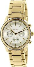 DKNY NY2330 Rockaway Women's Gold Tone Stainless Steel Chronograph Watch NWT