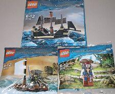 3x Lego Fluch der Karibik! Jack Sparrow , Jack mit Boot und Mini Black Pearl OVP