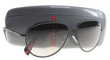 New Prada Sunglasses Men Aviator SPS 55R Black DG0-0A7  SPS55R 59mm