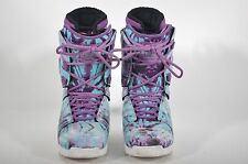 2015 WOMEN'S THIRTYTWO LASHED SNOWBOARD BOOTS $210 7.5 purple blue white USED