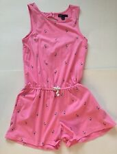 EUC Gap Kids Pink Flamingo Romper Keyhole Back L 10