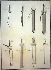 Encyclopédie Méthodique Antiquités Mythologie Armes épées grecques Baudrier 1786