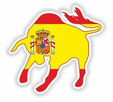 Taurus with Spanish Flag Spain Espana Sticker for Bumper Locker Tablet