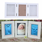 Photo Frame Newly Born Baby Foot/Hand Print Cast Set Christening Gift HS