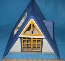 PLAYMOBIL SET #3230 MODERN FAMILY VACATION HOME A-FRAME HOUSE - Incomplete
