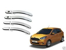 DLT - Premium Quality Chrome Door Handle Latch Cover - Ford Figo
