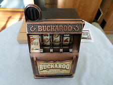 2007 MATTEL BUCHAROO BANK - SLOT MACHINE - RADICA - BATTERY OPERATED
