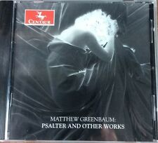 Matthew Greenbaum Psalter and Other Works CD 2005 Centaur NEW