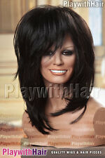 Punk Rocker Tina Turner Wig Soft Black