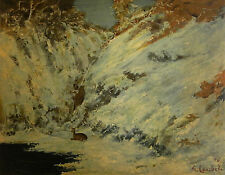 """Gustave Courbet """"Paysage de neige dans Le Jura"""" lithograph"""