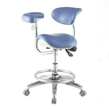 NEW Dental Deluxe Mobile Saddle Seat Chair Medical Assistant Doctor Stools QY-1