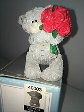 "LARGE 9cm 3.5"" HIGH BOXED ME TO YOU FIGURINE TATTY TEDDY BEAR ~ FLOWERS FOR YOU"