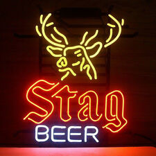 "17""x14"" Stag Beer Deer Neon Light Sign Beer Bar Pub Club Store Shop Home Display"