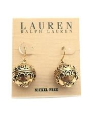 Laure Ralph Lauren Gold Tone Ornament Ball Earrings $32