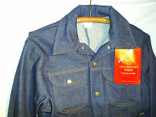 Mens Jean Denim Jacket Small 40 Key Imperial Indigo Trucker RARE NEW OLD STOCK