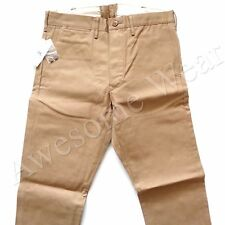 New Ralph Lauren RRL Khaki 100% Rigid Cotton Chino Pants size 34 x 32