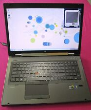 HP 8760w elitebook laptop I7-2920xm 2.5-3.5Ghz 12GB ram NEW 500GB hdd K3100m W7