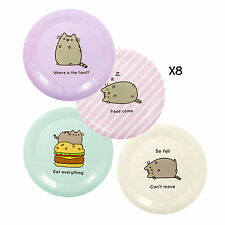 PACK OF 8 PUSHEEN PAPER PLATES BIRTHDAY PARTY CAT KITTEN PETS DECORATION TABLE
