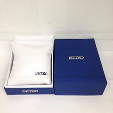 New SEIKO Blue Watch Box Presentation Storage Case with matching pillow