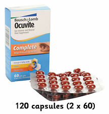 Ocuvite Complete 120 capsules (2 x 60) Bausch & Lomb FREEPOST