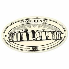 "Stonehenge travel car bumper window suitcase sticker 5"" x 3"""