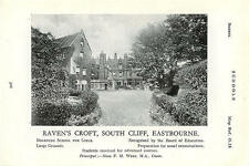 1934 School Raven's Croft Eastbourne Miss FM West