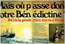 PUBLICITE  1971   BENEDICTINE   ( 2 pages) liqueur