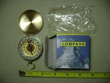 Glow in the Dark Pocket Brass Watch Style Compass (NEW in box) USA Seller