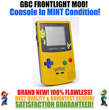Nintendo Game Boy Color GBC Frontlight Front Light Frontlit Mod Pokemon Yellow