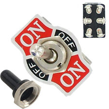 Metal 20A 125V 250V 15A DPDT 6Pin On/Off/On Rocker Toggle Switch Boot Knob Sales