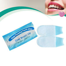100X Dental Brush Up Whitening Finger Strips Wipes Deep Cleaning Oral Care