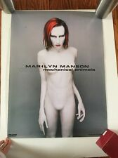 Marilyn Manson Rare Authentic Mechanical Animals Promo Poster Print 1998 Metal