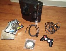 Sony PlayStation 3 80GB Backwards Compatible Console (PS1+PS2) CECHE01 + Games