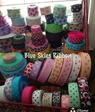 "25 yard mix 7/8"" 1.5"" polka dot jumbo minnie grosgrain ribbon large mix destash"