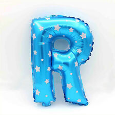 """16"""" Blue Foil Balloon For Wedding Birthday Party Festival Decoration Letter R"""