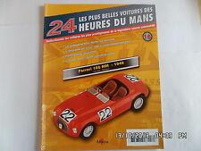 MAGAZINE 24 HEURES DU MANS N°16 FERRARI 166 MM 1949